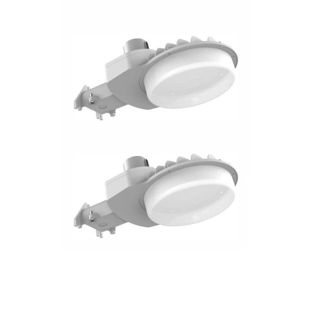 600-Watt Equivalent Integrated LED Area Light and Flood Light, 9000 Lumens, Dusk to Dawn Outdoor Light (2-Pack)