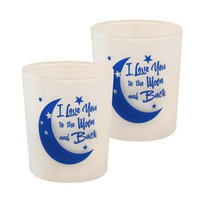 Battery Operated LED Candles - I Love You to the Moon and Back (Set of 2)