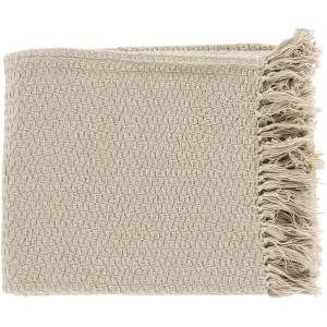 Sandford Beige Throw Blanket