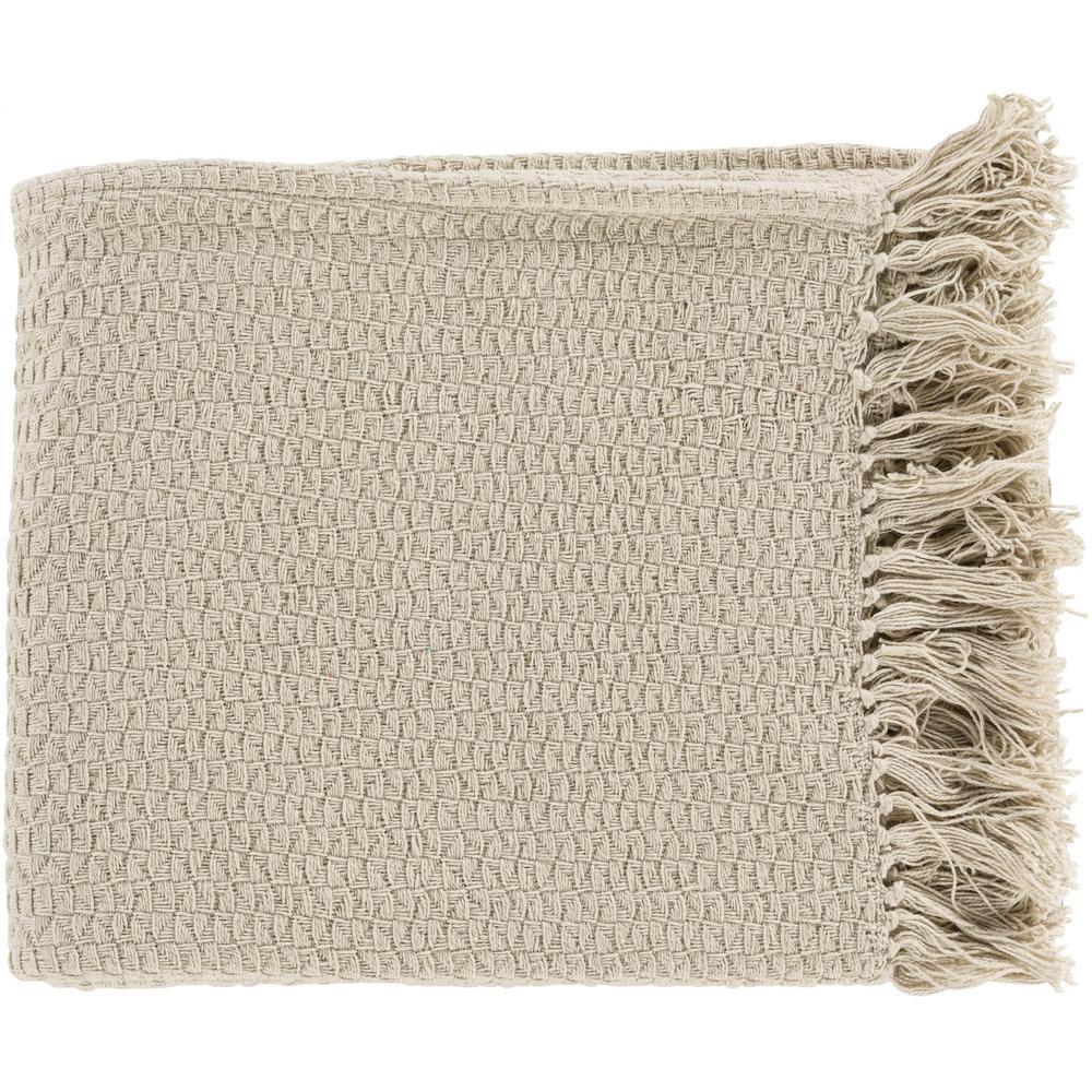 Sandford Beige Cotton Throw