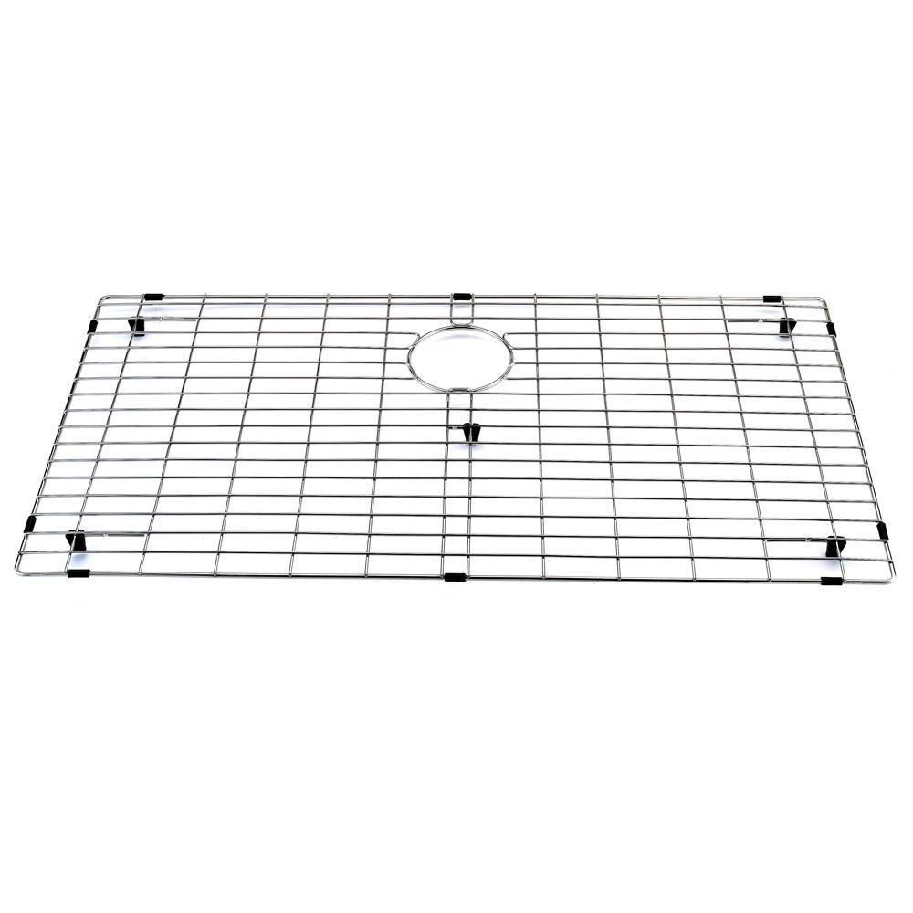 vigo 33 in. x 17 in. kitchen sink bottom grid-vgg3318 - the home depot