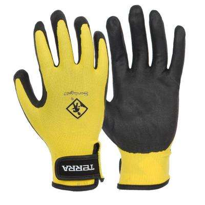 Nitrile Foam Dipped Large Work Gloves