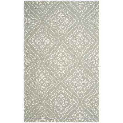 Manchester Slate/Ivory 5 ft. x 8 ft. Area Rug