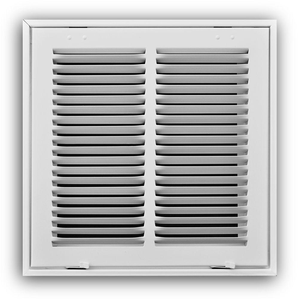 TRUAIRE 18 in. x 18 in. White Return Air Filter Grille