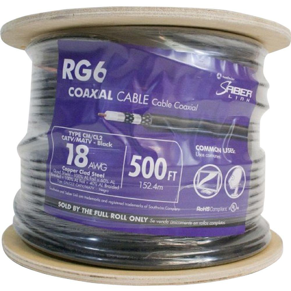 (By-the-Foot) 18 RG6 Quad Shield CU CATV CM/CL2 Coaxial Cable in