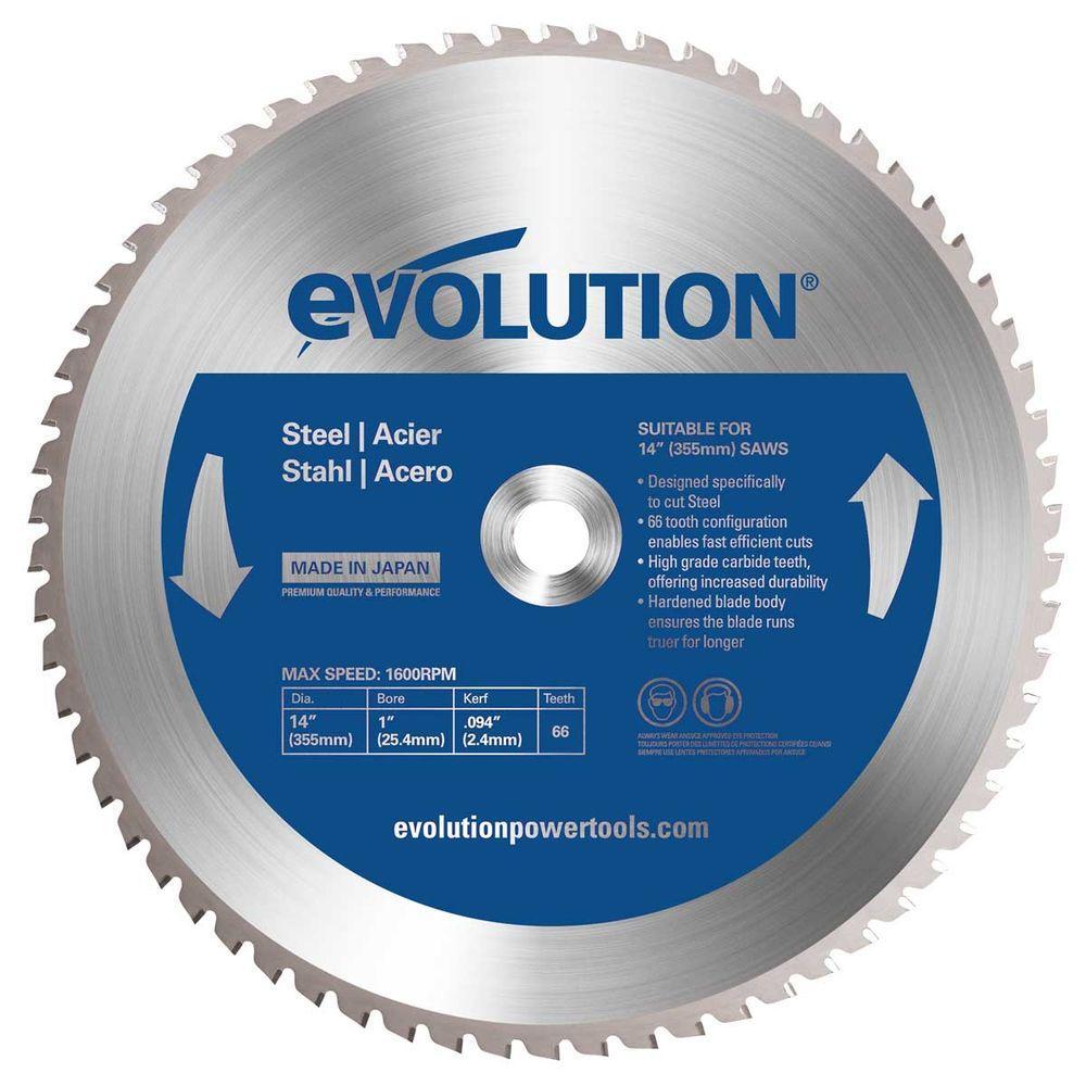 Evolution Power Tools 14 inch 66-Teeth Mild Steel Cutting Saw Blade by Evolution Power Tools