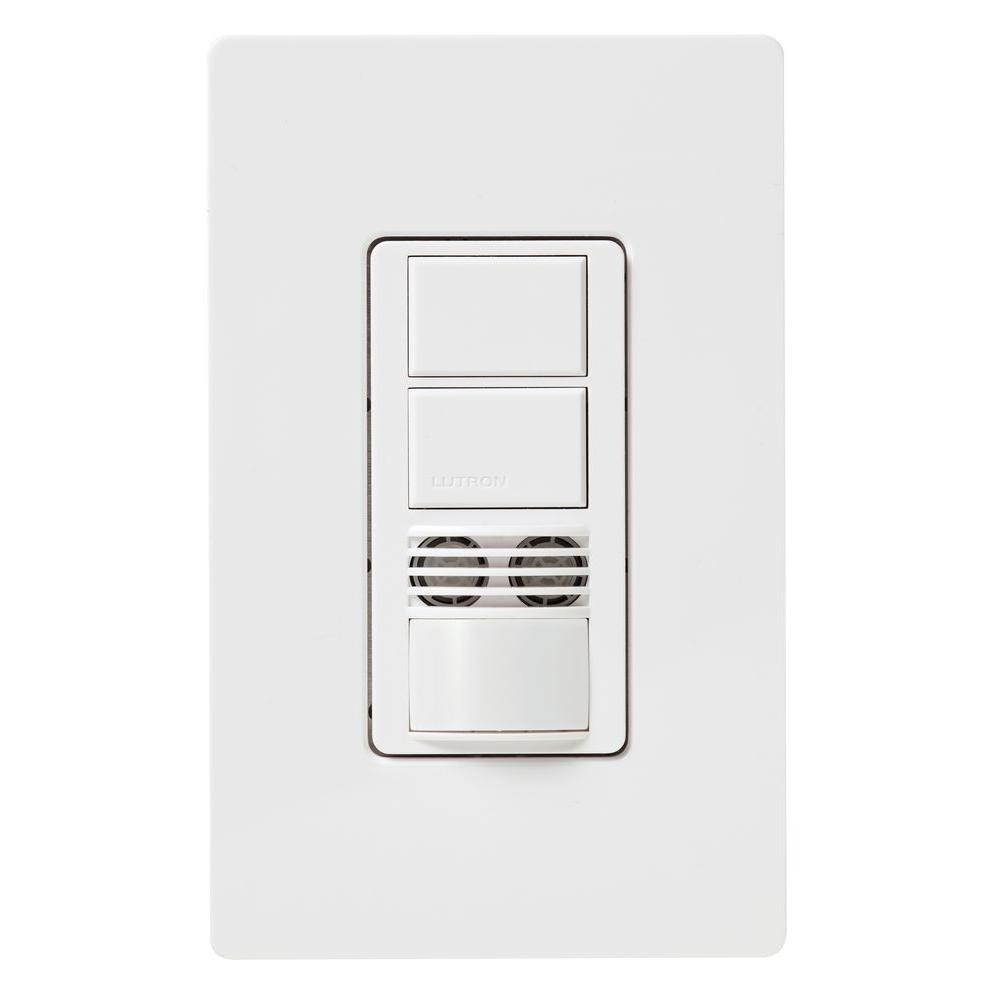 Lutron Maestro Dual-Circuit Dual-Tech Motion Sensor switch, 6A, Single-Pole or 3-Way, White