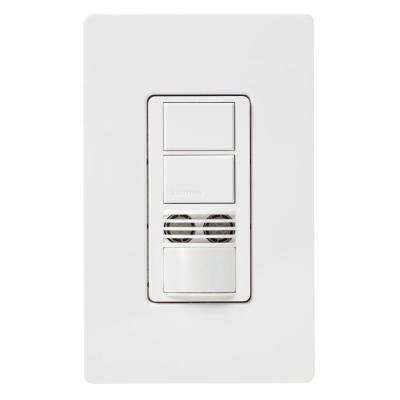 Maestro Dual-Circuit Dual-Tech Motion Sensor switch, 6A, Single-Pole or 3-Way, White