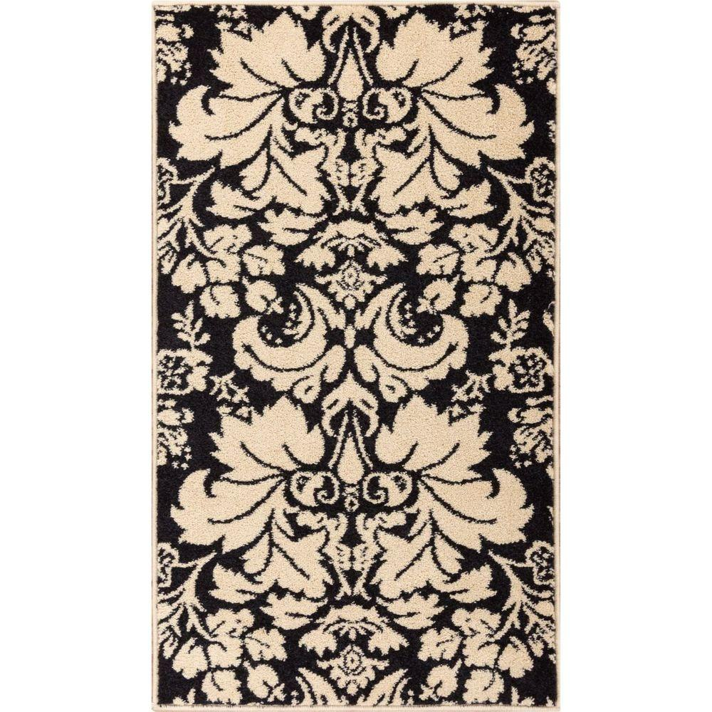 Black And White Toile Rug: Well Woven Sydney Damask Toile Black/Ivory 2 Ft. 3 In. X 3