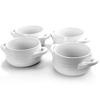 Plaza Cafe 29.7 oz. White Soup Bowls (Set of 4)