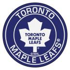 NHL Toronto Maple Leafs Navy 2 ft. x 2 ft. Round Area Rug