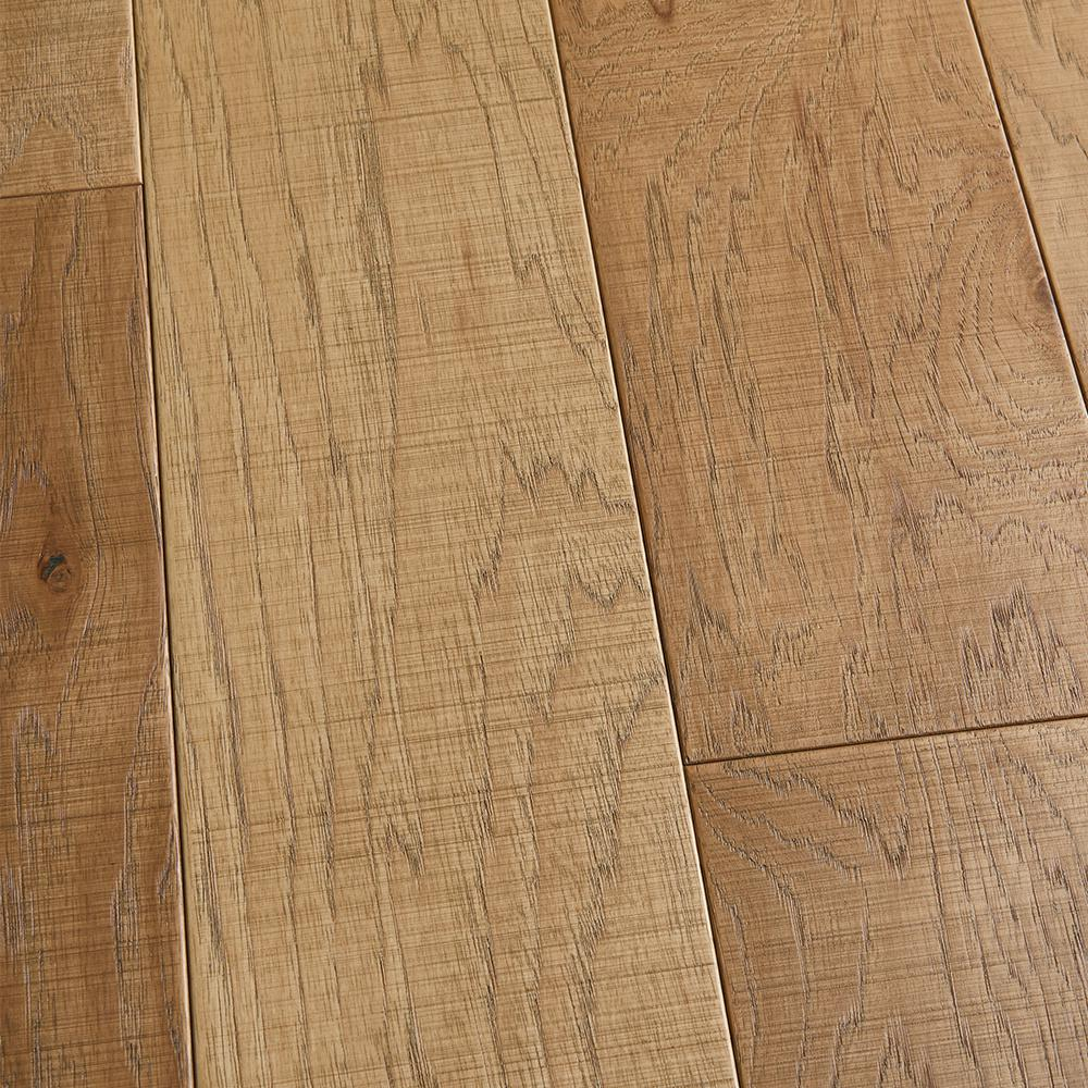 Malibu Wide Plank Take Home Sample - Hickory Bayside Tongue and Groove Engineered Hardwood Flooring -
