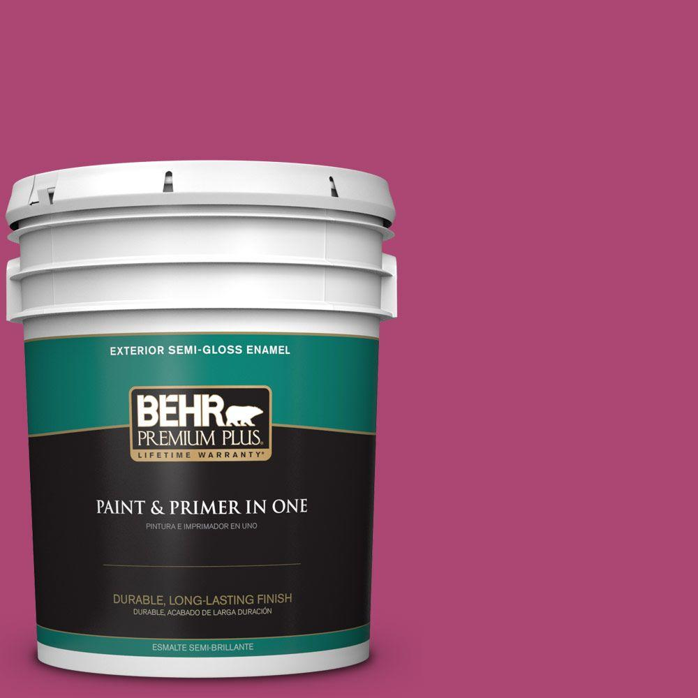 5-gal. #100B-7 Hot Pink Semi-Gloss Enamel Exterior Paint