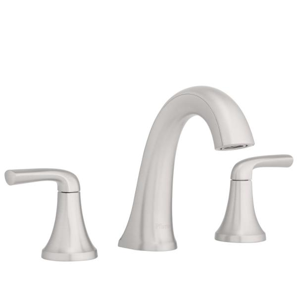 Pfister Ladera 8 in Widespread 2-Handle Bathroom Faucet in Spot Defense Brushe