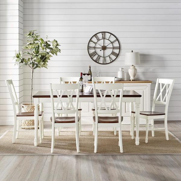 Crosley Furniture Shelby 7 Piece White