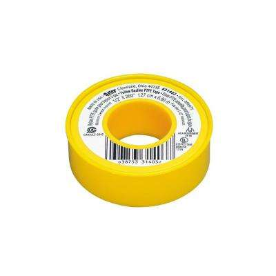 1/2 in. x 260 in. Yellow PTFE Tape