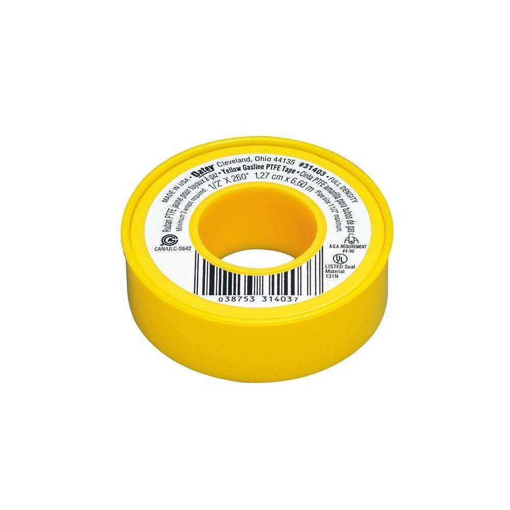 1/2 in. x 260 in. Yellow Thread Sealing PTFE Plumber's Tape