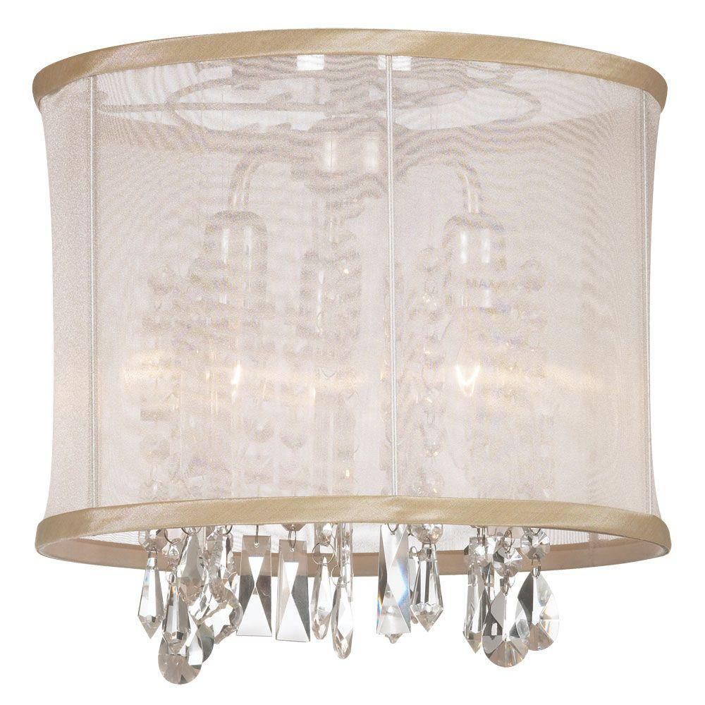 Conical 16 Drum Semi Flush Fixture In 2019: Lithonia Lighting Saturn 16 In. 2-Light Brushed Nickel