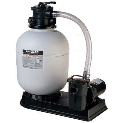 16 in. Polymeric Sand Filter System with 1 HP Power Flo Pump