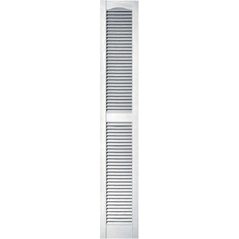 Exterior Shutters: Builders Edge 12 In. X 72 In. Louvered Vinyl Exterior