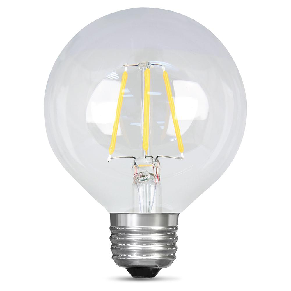 40W Equivalent Soft White G25 Dimmable Clear Filament LED Medium Base
