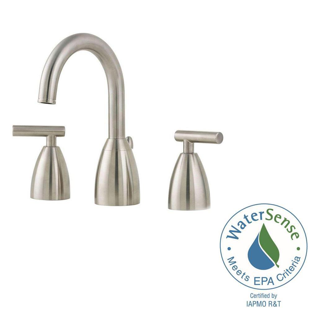 Contempra 8 in. Widespread 2-Handle Bathroom Faucet in Brushed Nickel