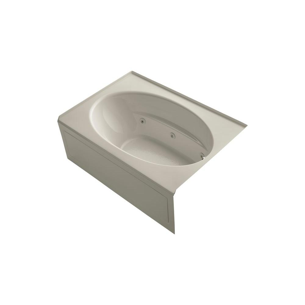 KOHLER Windward 5 ft. Whirlpool Tub in Sandbar