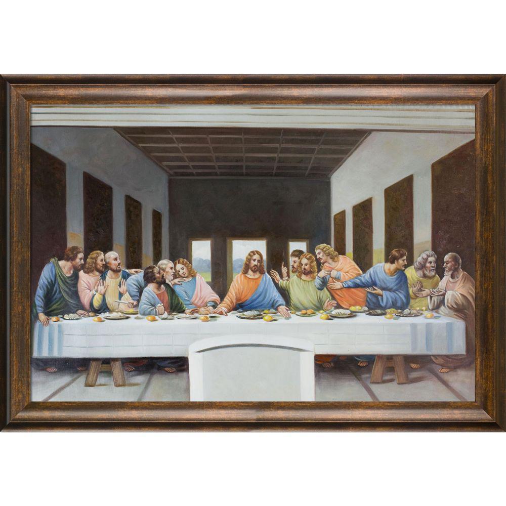 41 In X 29 In The Last Supper With Modena Vintage By Leonardo Da Vinci Framed Wall Art