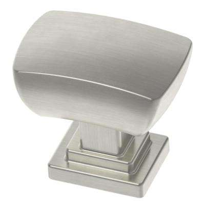 Wrapped Square 1-3/16 in. (30mm) Satin Nickel Rectangular Cabinet Knob