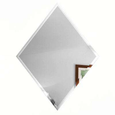 Echo Silver Diamond 6 in. x 8 in. Glass Mirror Wall Tile (6-pieces/pack)