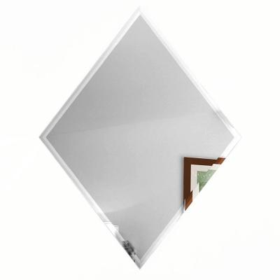 Reflections Silver Beveled Diamond 6 in. x 8 in. Glossy Glass Mirror Wall Tile (6 Pieces/Pack)