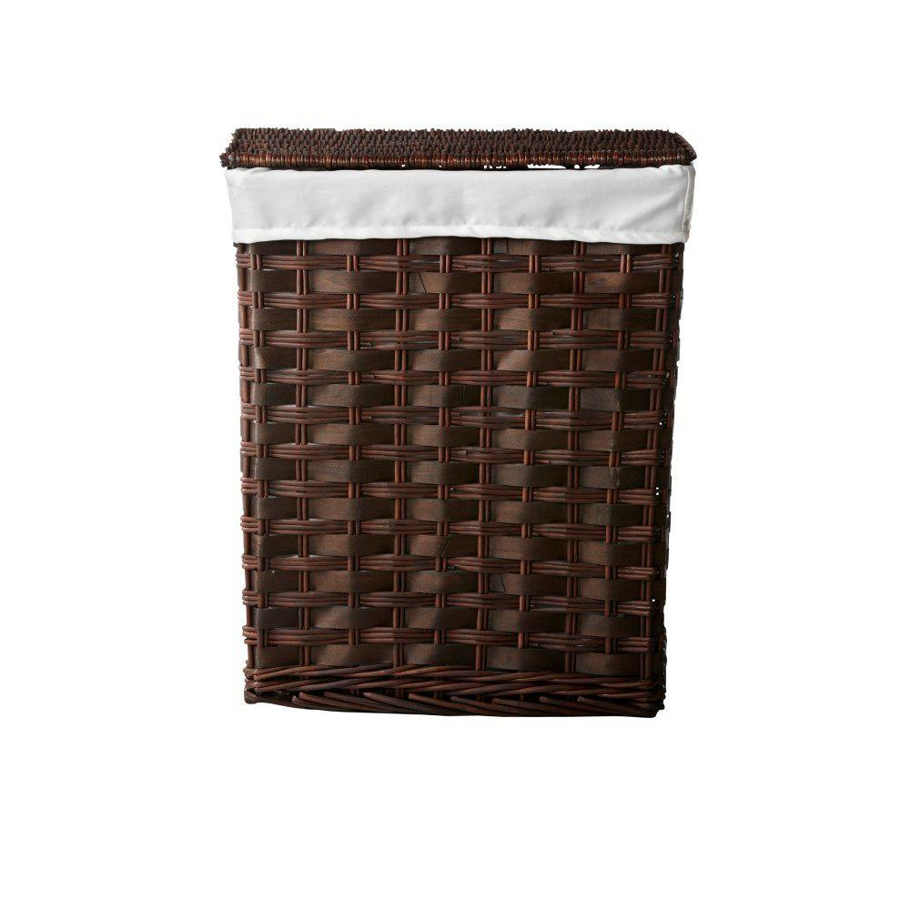 Home Decorators Collection Willow 19 in. W Brown Chipwood Rectangular Laundry Hamper with Liner