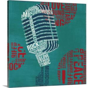 """""""Type Mic Square"""" by Michael Mullan Canvas Wall Art"""