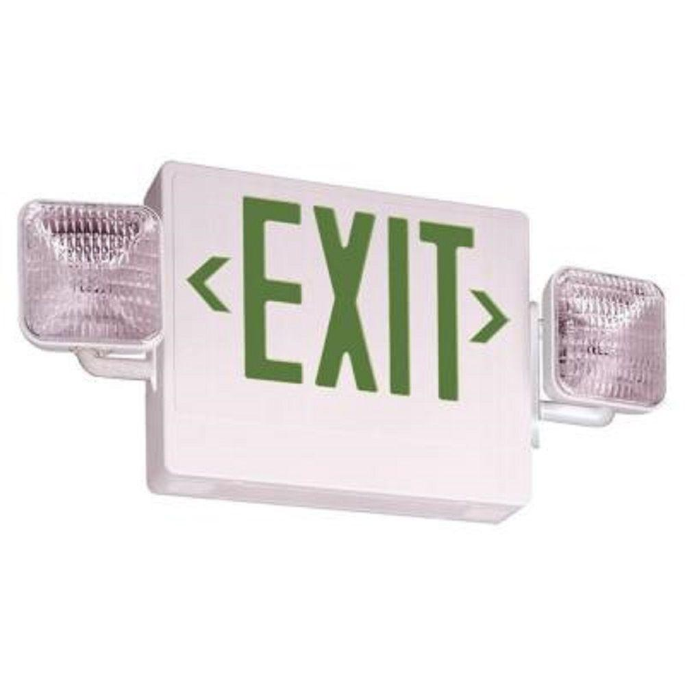 Home Depot Emergency Lights: Lithonia Lighting Thermoplastic LED Exit/Unit Combo-ECG