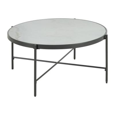 Carlo Round Coffee Table with Marble Top
