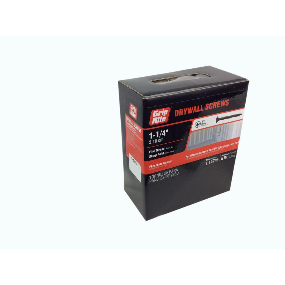 1 1 Jensen Grip Rite CS100 30.550 lb Number-2 Phillips Bugle Head Coated Drywall Screw Home Improvement