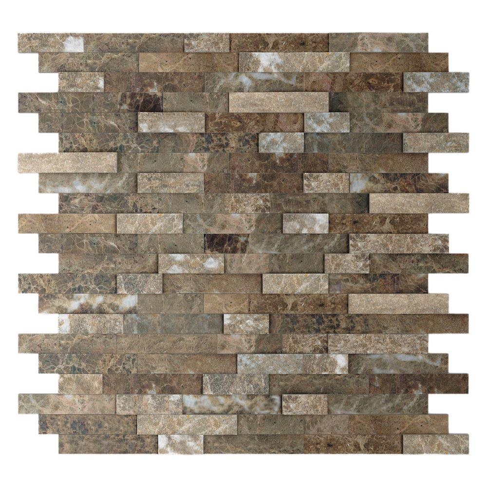 Inoxia Sdtiles Bengal Brown 11 77 In X 57 8 Mm Stone Self