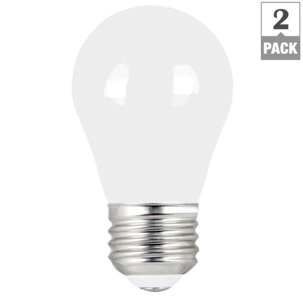 Feit Electric 60 Watt Equivalent A15 Dimmable Filament Cec 90 Cri White Glass Led Ceiling Fan Light Bulb Daylight 2 Pack Bpa1560w950cafil2 Rp The Home Depot