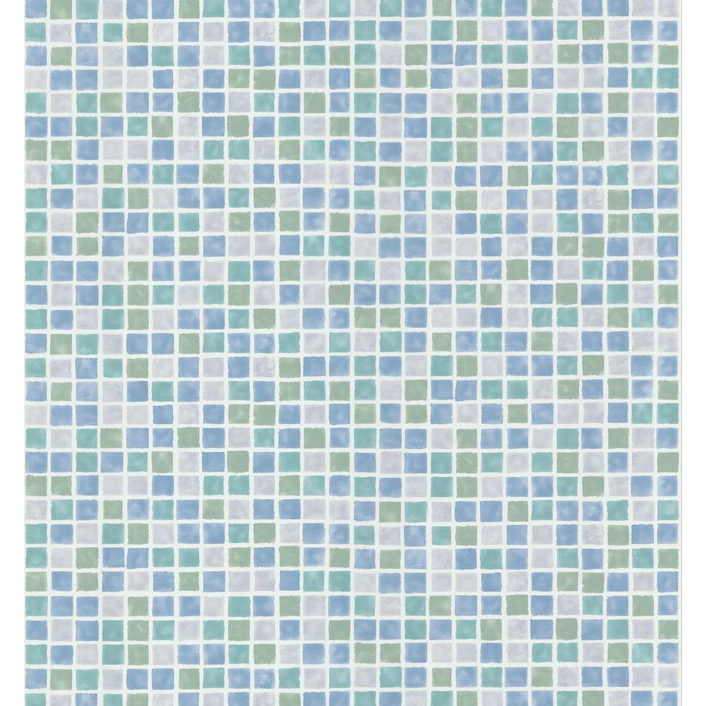 Brewster Mosaic Tile Wallpaper-149-58753 - The Home Depot