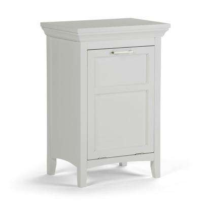 Avington Ready to Assemble 20.5x30x15 in. Bar Cabinet Laundry Hamper in White