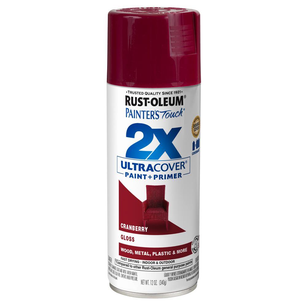 Rust-Oleum Painter's Touch 2X 12 oz. Gloss Cranberry General Purpose Spray Paint