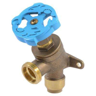 1/2 in. Push-to-Connect x MHT Brass Garden Valve with Drop Ear