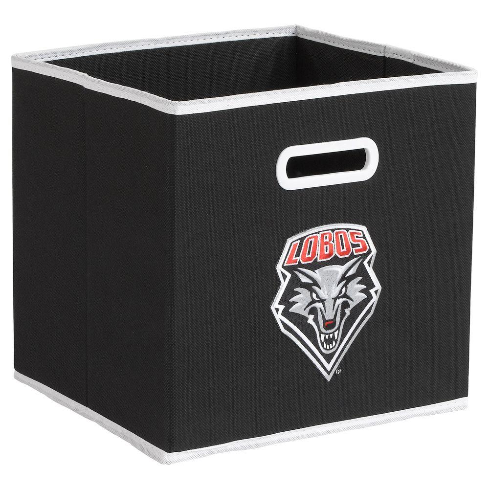 null College STOREITS University of New Mexico 10-1/2 in. W x 10-1/2 in. H x 11 in. D Black Fabric Storage Drawer