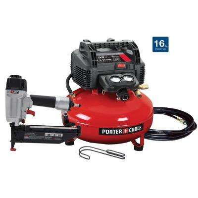 6 Gal. 150 PSI Portable Electric Air Compressor and 16-Gauge Nailer Combo Kit