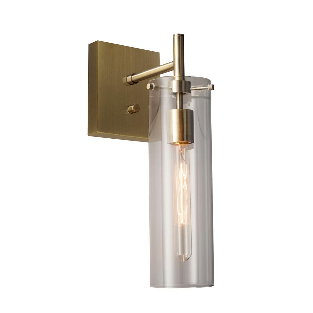 Dalton 1-Light Antique Brass Wall Sconce