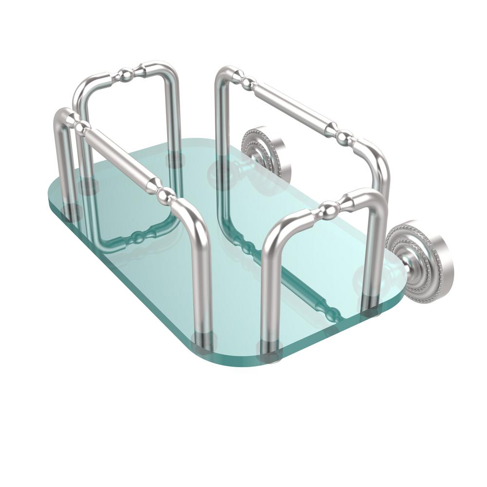 Allied Brass Dottingham Wall Mounted Guest Towel Holder In Satin Chrome