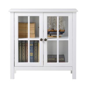 3 Os Home And Office White Gl Door Accent Display Cabinet