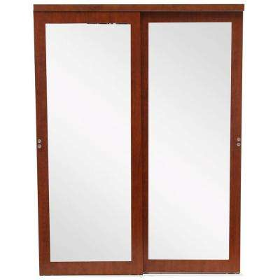 Mir-Mel Espresso Mirror Matching Trim Solid MDF Interior Sliding Door