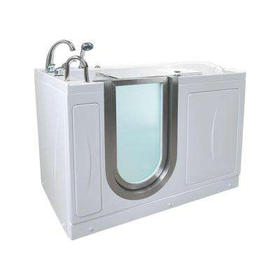 Royal 4.33 ft. x 32 in. Acrylic Walk-In Infusion MicroBubble Air Bathtub in White with Dual Drain/Left Door