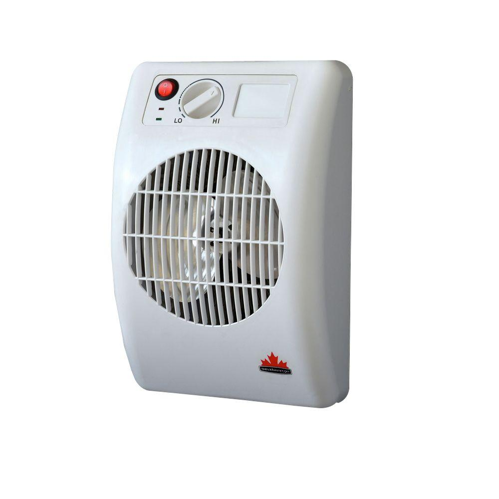 Seabreeze 1500 watt outlet mountable quotoff the wallquot bed for Space heater for bathroom